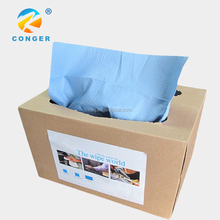 White/Blue/Red Strong Industrial Nonwoven Wiping Fabric Spunlace Non woven Industrial Wipes