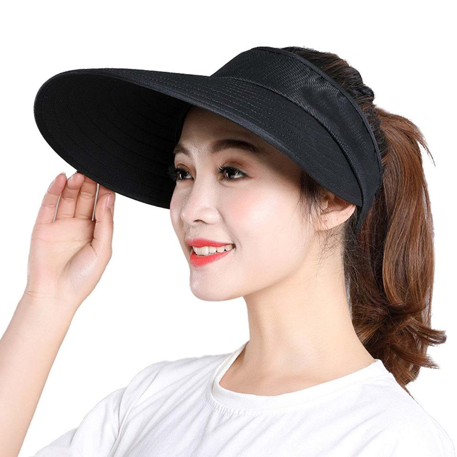 f6ceec16004 Get Quotations · New Women s Sunblock Hats for Spring and Summer Travel Sea  Hats Women s Beach Hat
