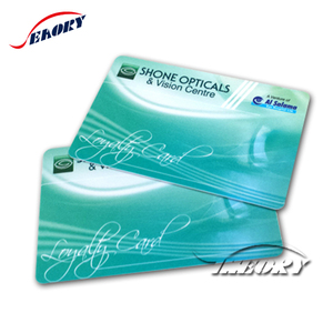 OEM design Seaory RFID thank you greeting card pvc card with chip