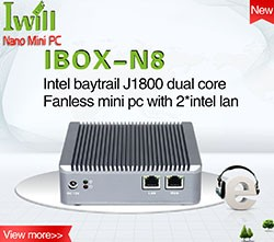 IWILL aluminum celeron N3160 quad core Fanless mini pc with 6USB and 1COM