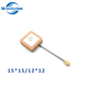 Internal 1575 28dbi 25*25 15*15 18*18 Ceramic Patch Antenna GPS For Smart Watch