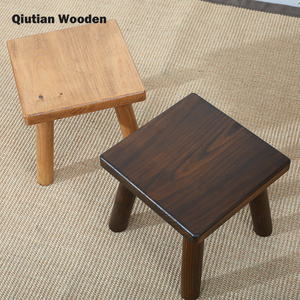 Remarkable Solid Wood Ottoman Stool Square Wooden Stool Squirreltailoven Fun Painted Chair Ideas Images Squirreltailovenorg