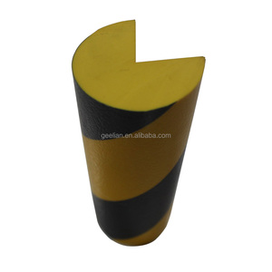 yellow and black stripe PU foam corner guard Workshop Column Protection sale