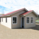 Mini Contemporary Wood Log Steel House Villa Prefabricated House Kits