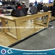 retail apple store wood display table with 4 legs