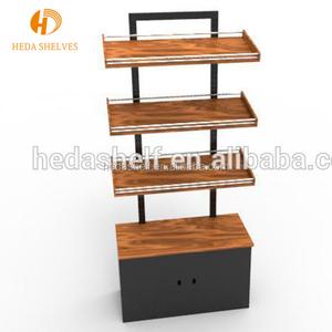 New Design Supermarket Wooden Shelf Bread Display Rack