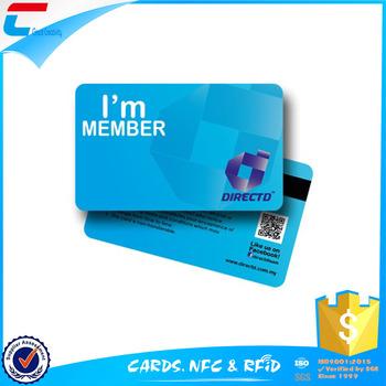 Magnetic strip membership cards