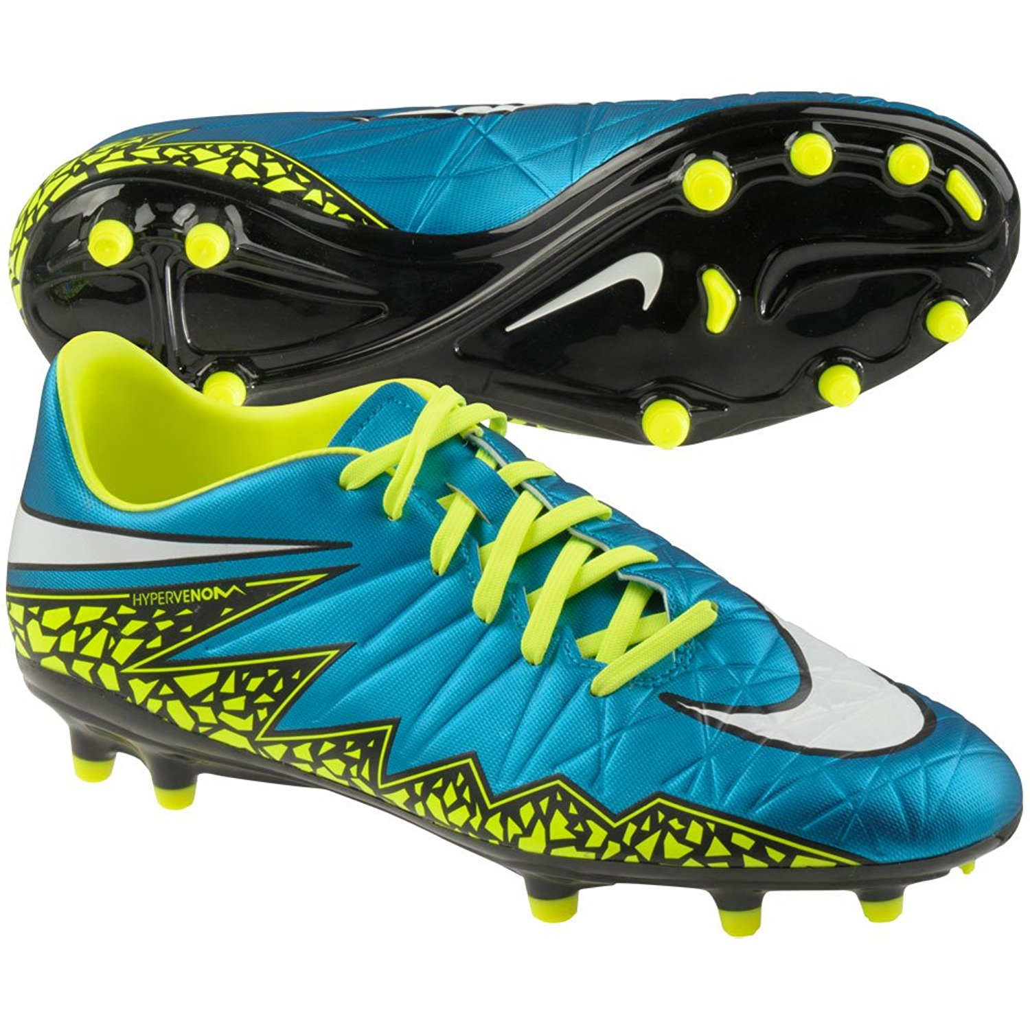 00c349a1f383 Get Quotations · Nike Women s Hypervenom Phelon II FG Soccer Cleat (Blue  Lagoon