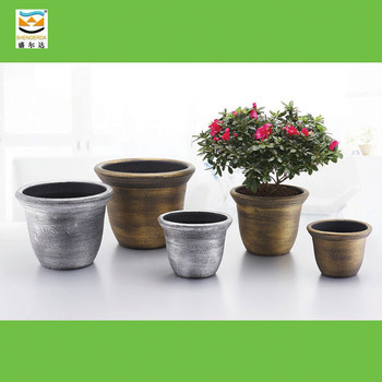Gold Silver Plastic Painted Flower Pot Buy Painted