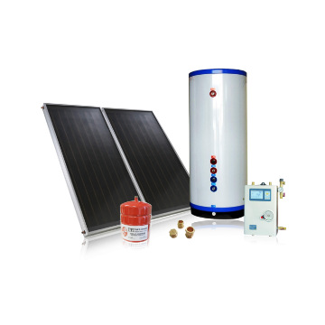 CE certification flat panel copper hot water tank solar water heating system