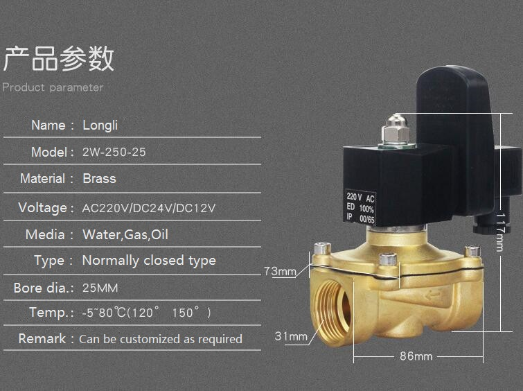 2W-250-25 1.0 inch timing electronic drain solenoid valve,air compressor automatic water drain valve
