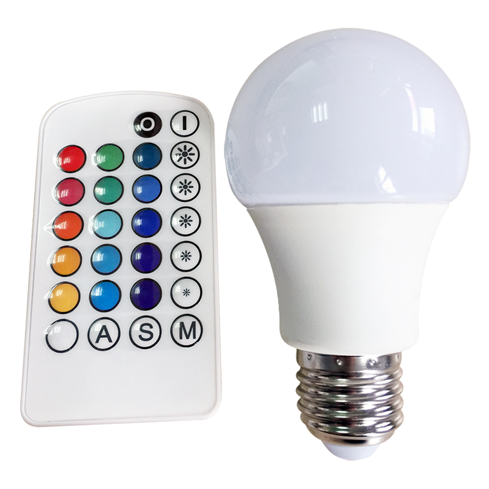 Led rgb bulb lamp a60 4w e27with remote controller 16 colorrgb led rgb bulb lamp a60 4w e27 with remote controller 16 colorrgb led parisarafo Image collections