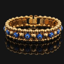 2015 new fashion 18k gold plated Evil Eye charm bracelets islamic bracelets