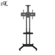 Adjustable Small Metal Rotating LCD Outdoor TV Stand With Plastic Holder