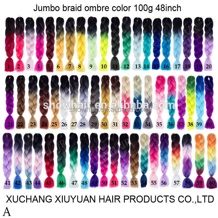 Wholesale cheap xpression synthetic hair braids, machine for making synthetic hair