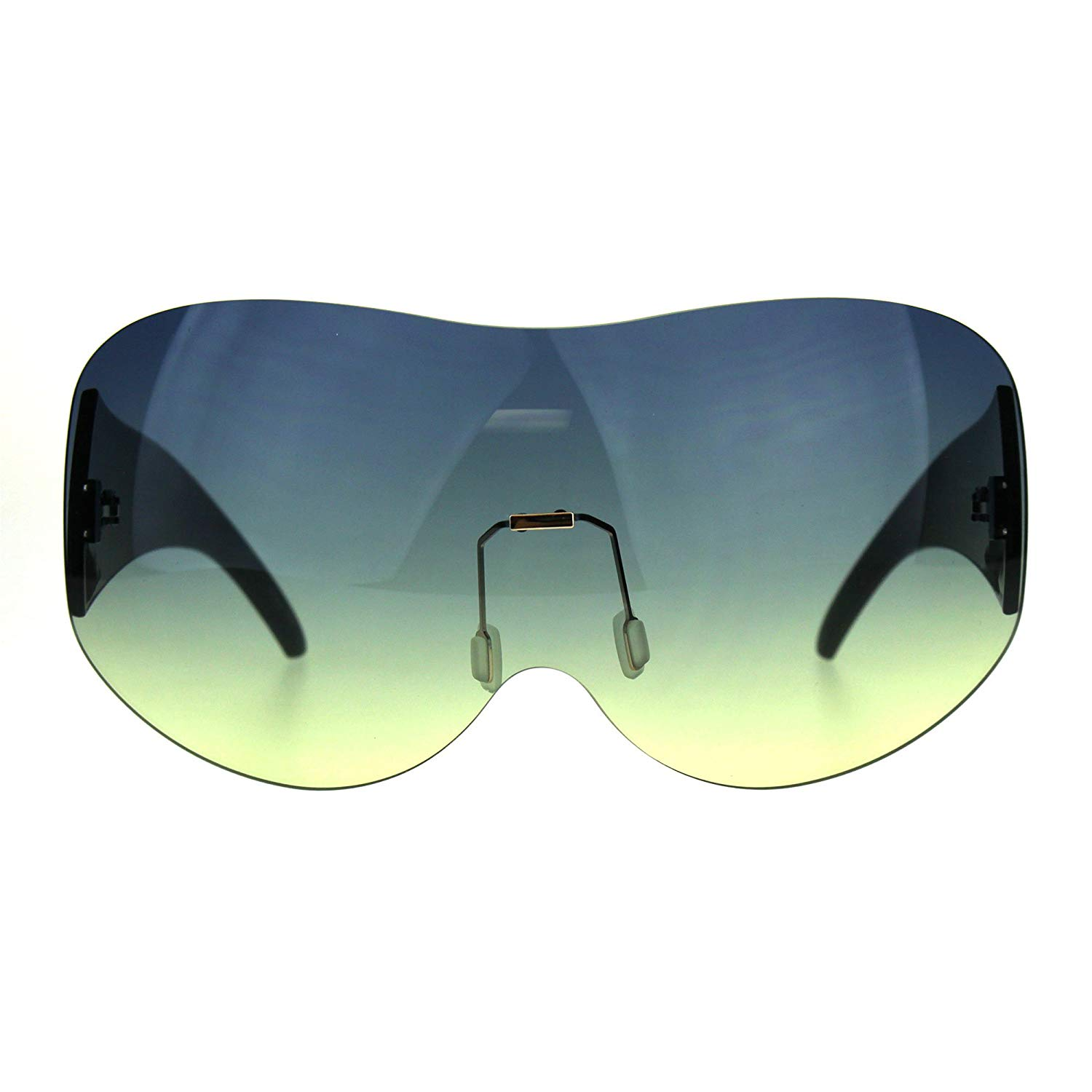 fc53efa8067 Get Quotations · Extra Large Fighter Jet Mask Shield Pilots Sunglasses