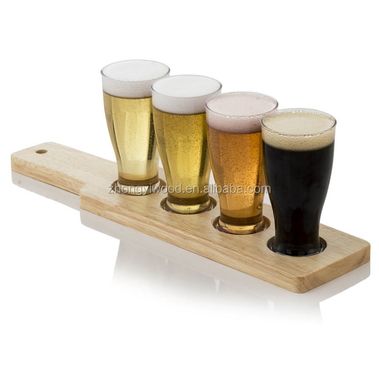 Wholesale Bent Beer Paddle Wooden Flight Paddle for Bar