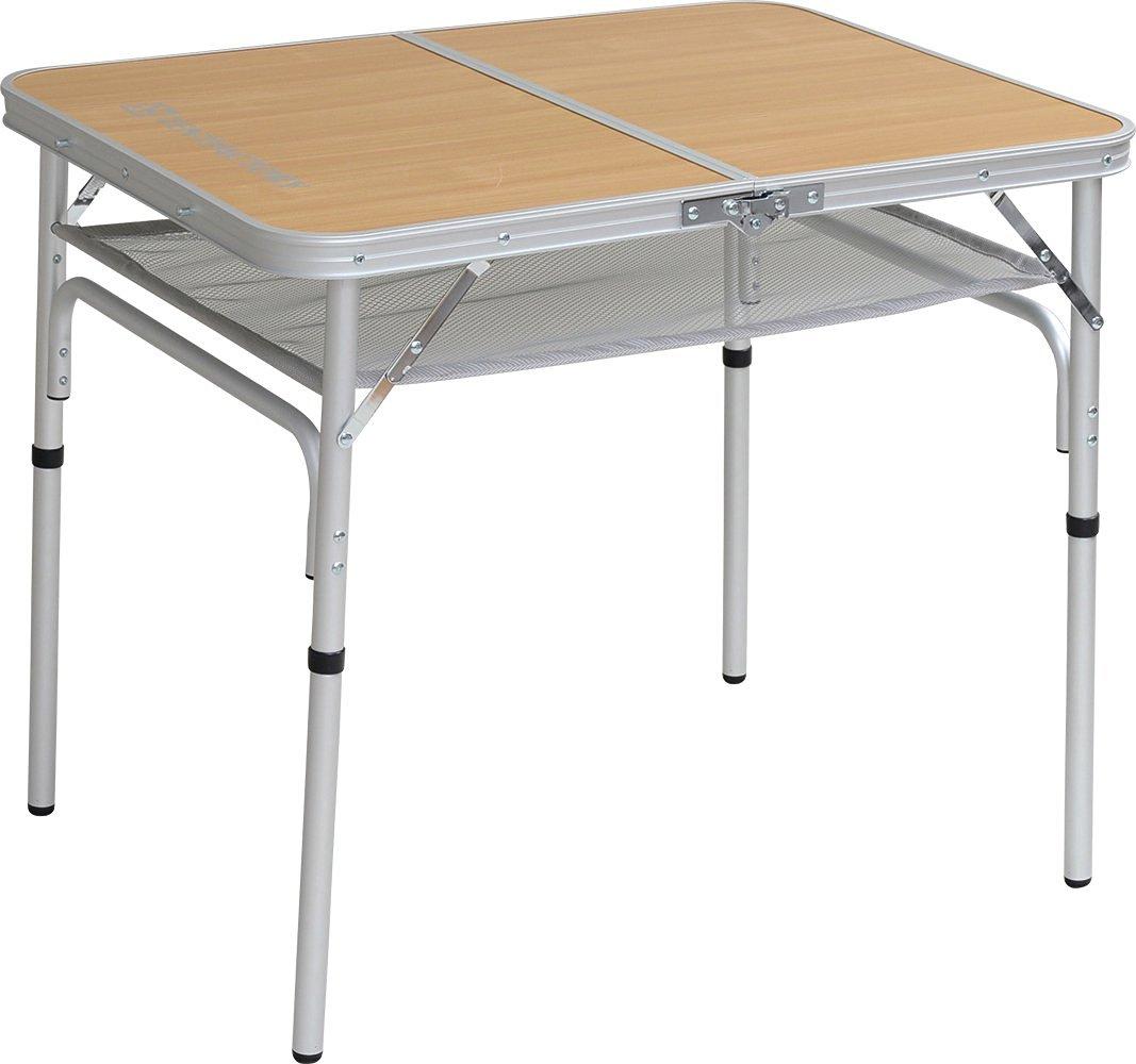 TENT FACTORY (tent factory) dual folding table 8060EX Natural 80 ~ 60 ~ 68 (35) cm TF-DFT8060EX-NA