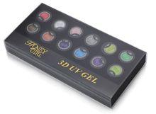10pcs New 3d nail art 3d nail sticker 3d nail art christmas decoration 8ml Free Shipping