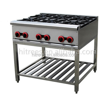 Latest Style Industrial Kitchen Gas Co Ng Cooker Range 6 Burner Gas Stove With Oven