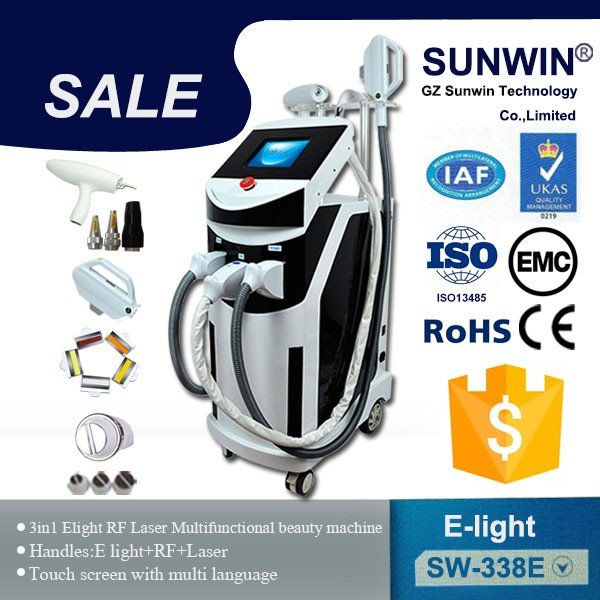 SHR IPL Hair removal /rf face lifting/ nd yag laser tattoo removal device