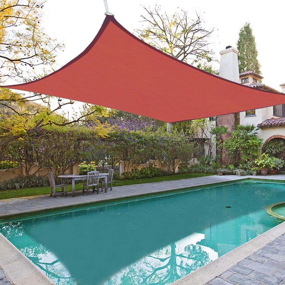 18x18u0027 Square Sun Shade Sail Patio Deck Beach Garden Outdoor Canopy Cover  Uv Blocking (