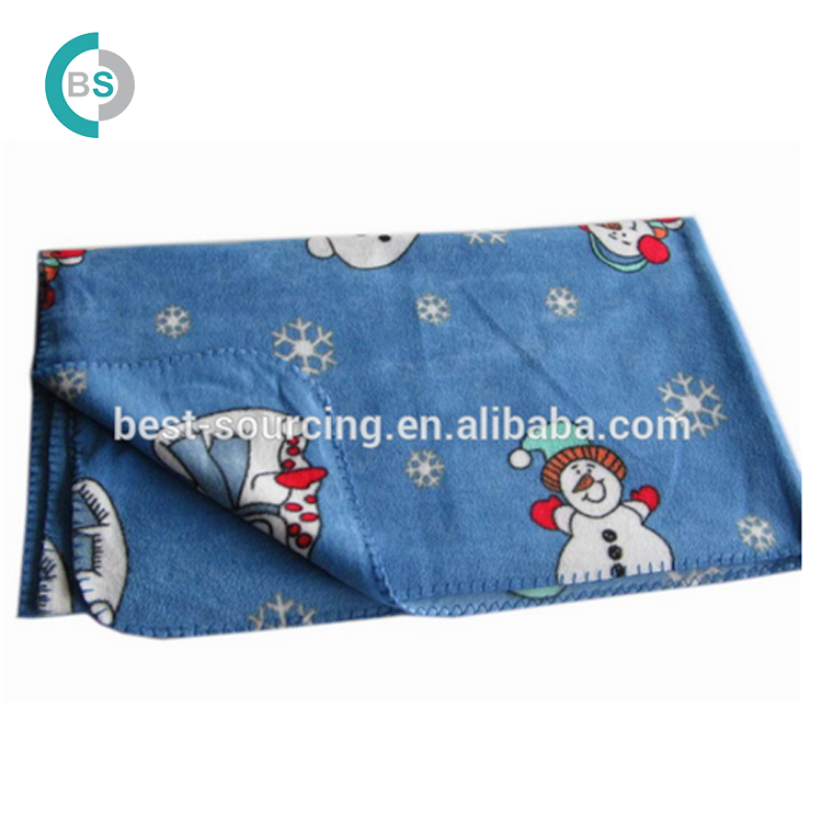 China fabriek Outdoor Opvouwbaar polar fleece gehaakte baby deken