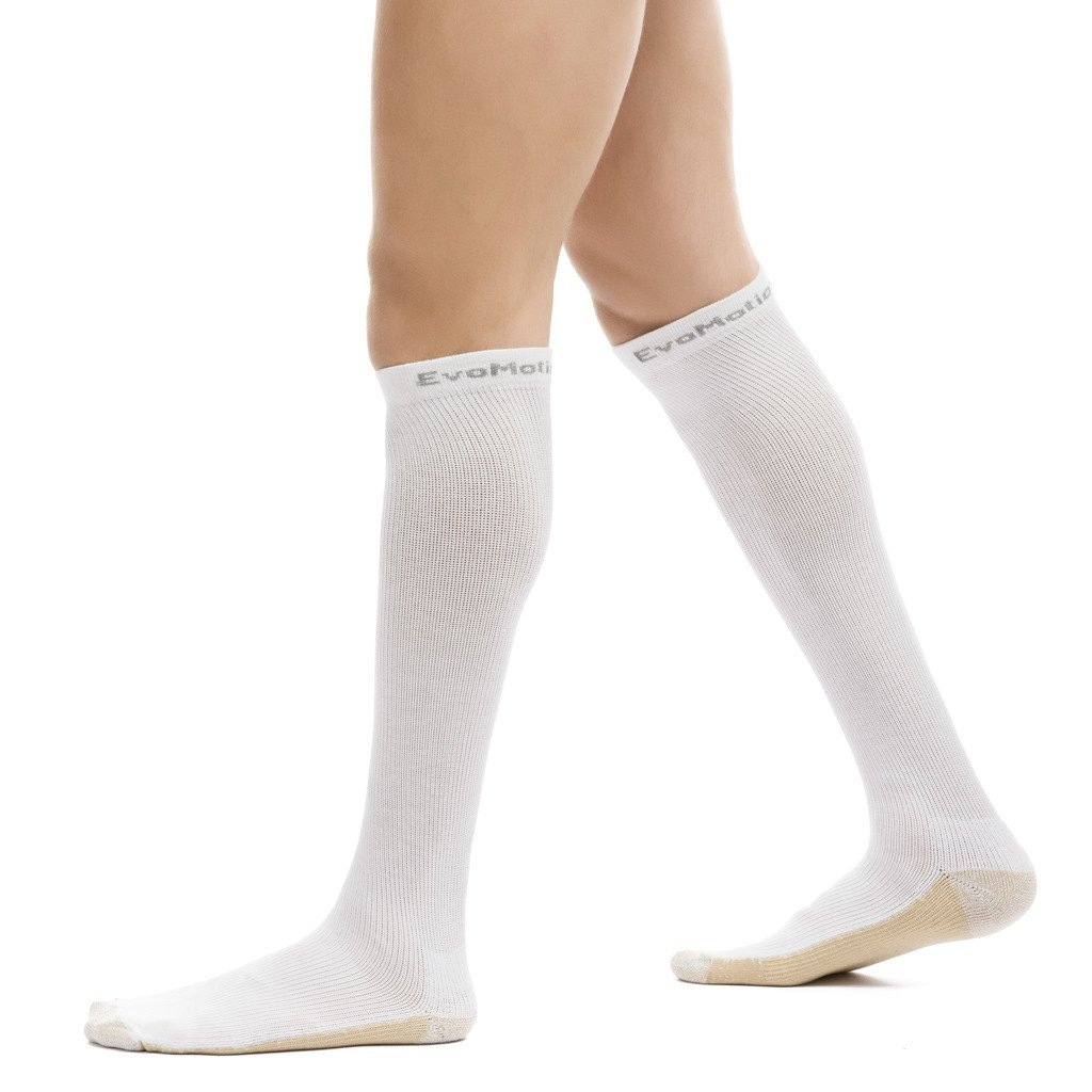 EvoMotion Hydrotec Copper Microban USA Made Ultimate Compression Socks Men and Women 15-20 mmHg Moderate Graduated Pressure Pro Athletic Sports Performance and Recovery Support