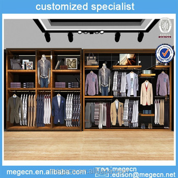 Cabinet Design For Clothes Captivating Customize Design Mdf Clothes Display Wall Cabinet  Buy Customize Design Ideas