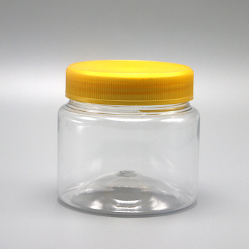 200ml pet drug grade transparent empty plastic mini honey jars small