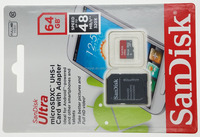 Sandisk Ultra microSDXC Class 10 48MB/s memory card with adaptor SDSDQUAN