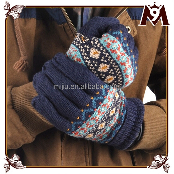 2015 hot sale factory direct supply warmer funky winter gloves for men