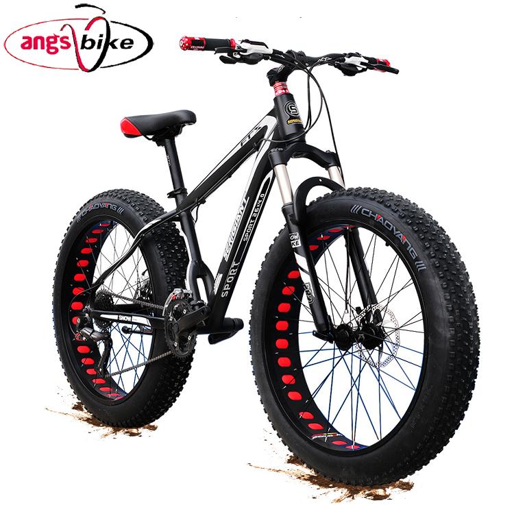 full suspension mountain bike 26'' 21 speed mountain snow bike with big fat tyre