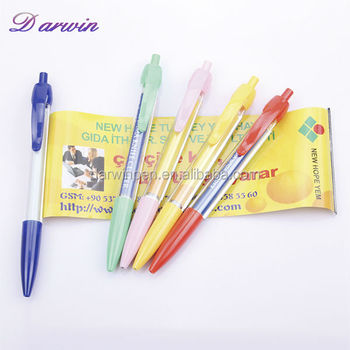 Plastic low price ad multifunction banner pen