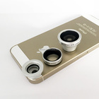Detachable 3 In 1 Wide Angle Macro Fisheye Mobile Phone Camera Lens