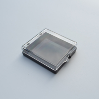 Small clear hard PS plastic box for packing