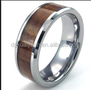 Latest Designs Wood Finger Ring Trendy Metal Real Ringtitanium Tungsten Wedding