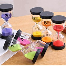 1M 3M 5M 10M 15M 30M 45M 60M Plastic and Glass Colorful Sand Timer Hourglass