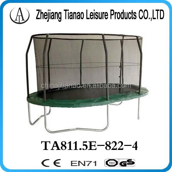 8ft x 11.5ft jumppod oval trampolines direct from the factory for kids and adults TA811.5E-822-4