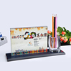 wholesale customized photo crystal pen box crafts Decorative clear crystal cube crafts home decoration ceremony souvenir gift
