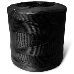 Synthetic Tying Twine - Polypropylene Spiral Wrap (Black) - 250 lbs Tensile, 550' Ft/Lb, 10# tube (4 Spiral Wraps) - CWC-027008