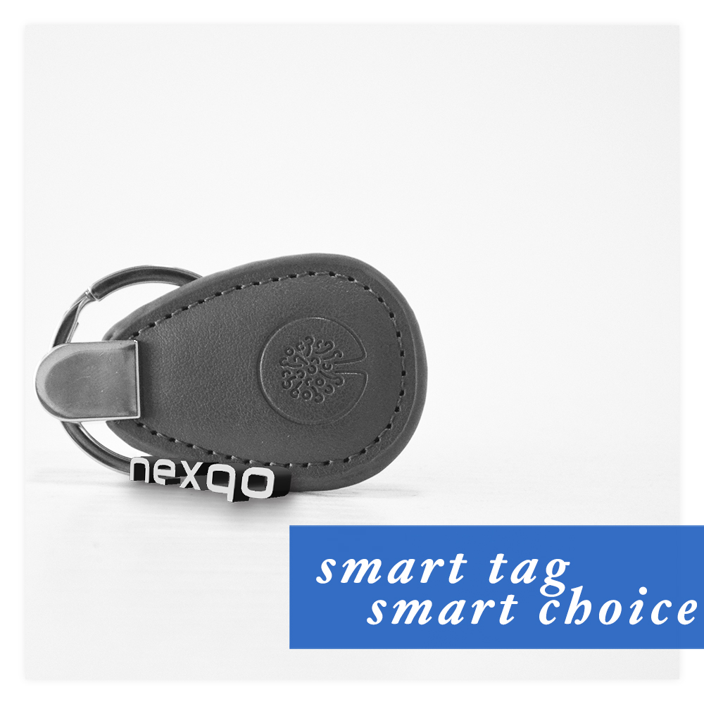 Leather RFID car key fob chain with Logo embossing