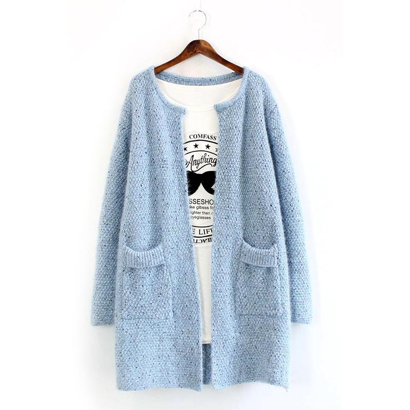 Women Long Sleeve Cardigan Knitted Jacket Winter Sweater ...