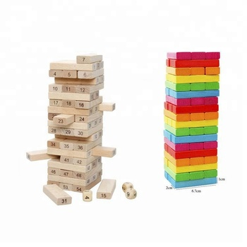 7 Years Old Educational Wooden Folds High Blocks Toys