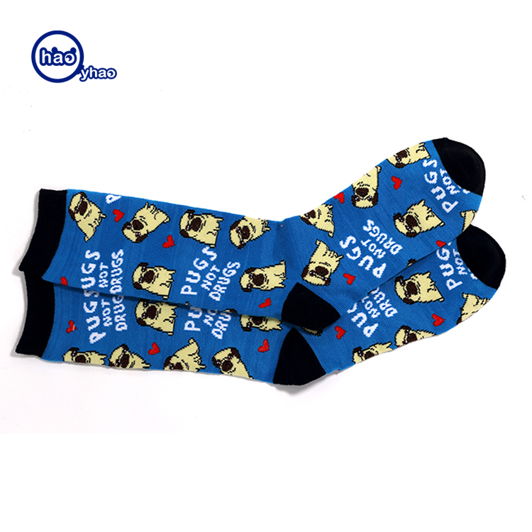 2017 Yhao Customized OEM fashion business men socks cotton dress socks