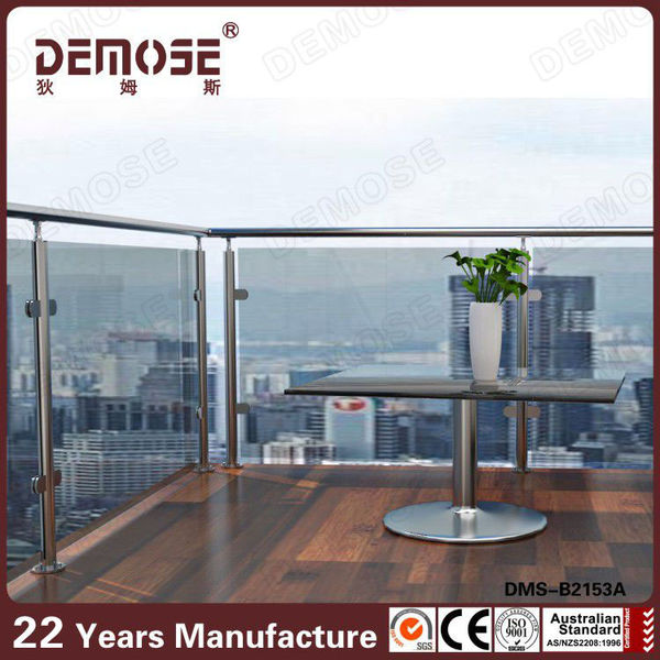 Exterior glass railing/modern stainless steel stair railings prima