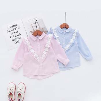 Baby Girls Blouse Kids Cotton Shirts Infant Princess Spring Autumn Clothes Children Long Sleeves Tops for baby stuff