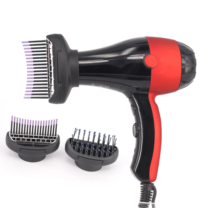 Innovative Ozone Function Salon Hair Dryer with Brush Attachment