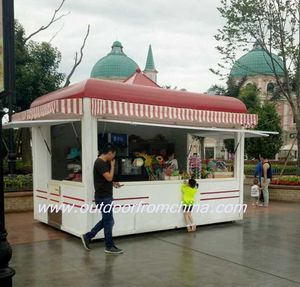 Hot selling Fast food kiosk franchise,outdoor coffee kiosk, Portable coffee kiosk