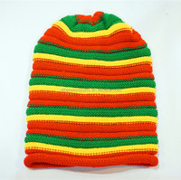 womens 100 wool knitted long beanie hat